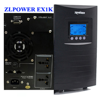 UPS ZLPOWER Double Convertion True-Online-Internal Battery ( P/No: EX1K)